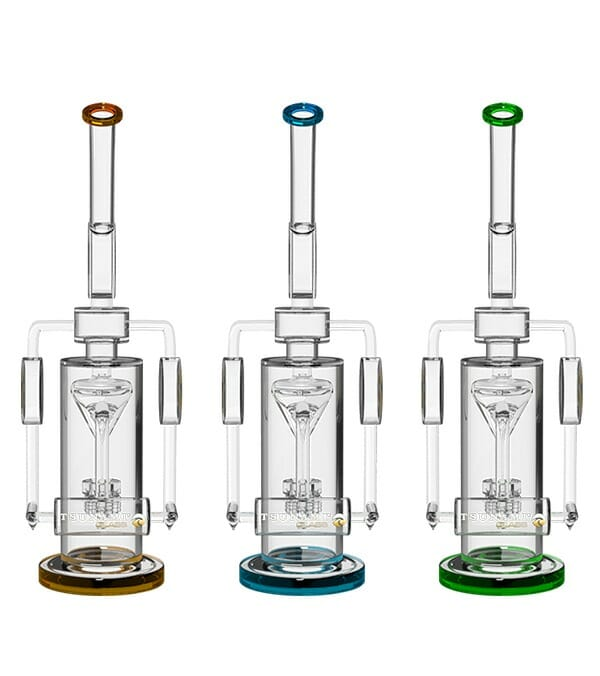 Glass Water Pipes   Electric Showerhead Tree Perc Puck