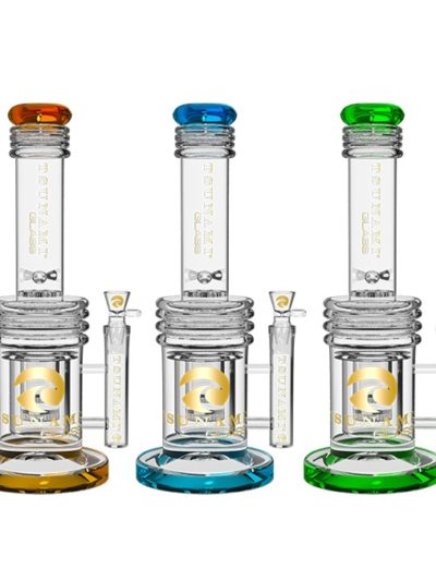 Glass Water Pipes | Triple Honeycomb Heart Perc